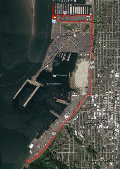 Today's awesome walk, 5.73 miles in 2:02, 13,042 steps