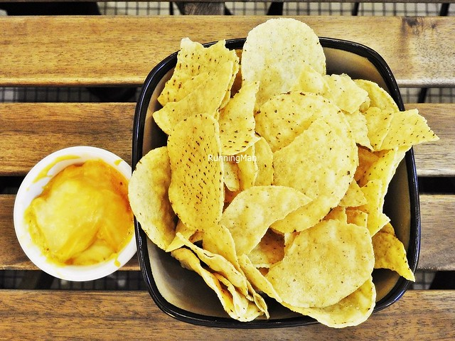 Nacho Chips With Cheese Sauce