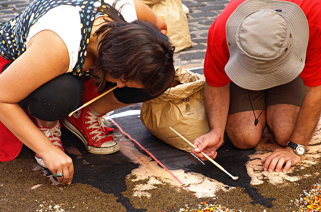 Paintin the carpet, Corpus Christi, La Orotava, Tenerife