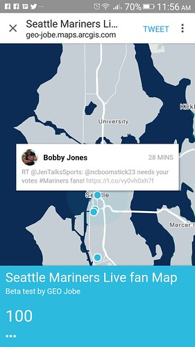Tweet map in ArcGIS created with Live Map configurable app. | by @gletham GIS, Social, Mobile Tech Images