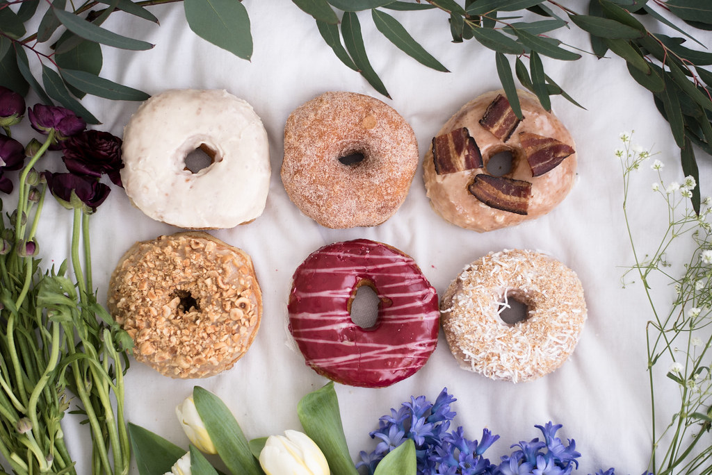 Donuts from Union Square Donuts and flowers from Central Square Florist on juliettelaura.blogspot.com