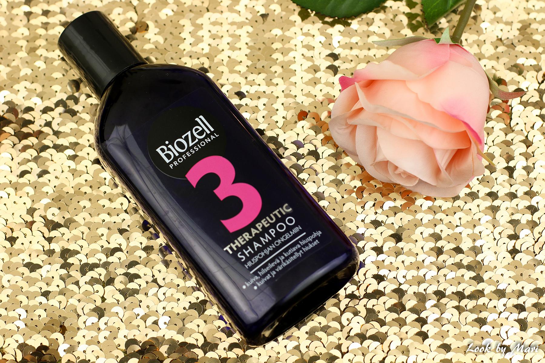 2 biozell therapeutic shampoo 3 kuivalle ja värikäsitellyille hiuksille kokemuksia