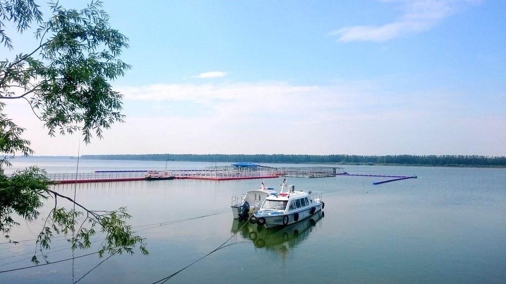 中國武漢天鵝洲保護區,有江豚的遷地保育與網箱養殖。