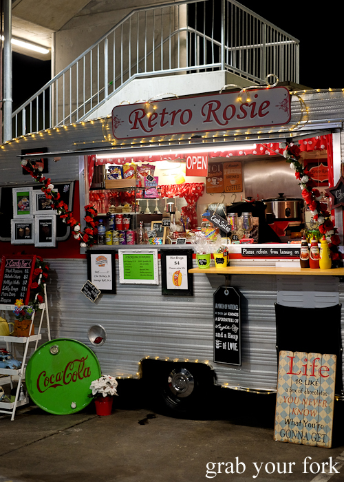 Retro Rosie food truck at Paddy's Night Food Markets