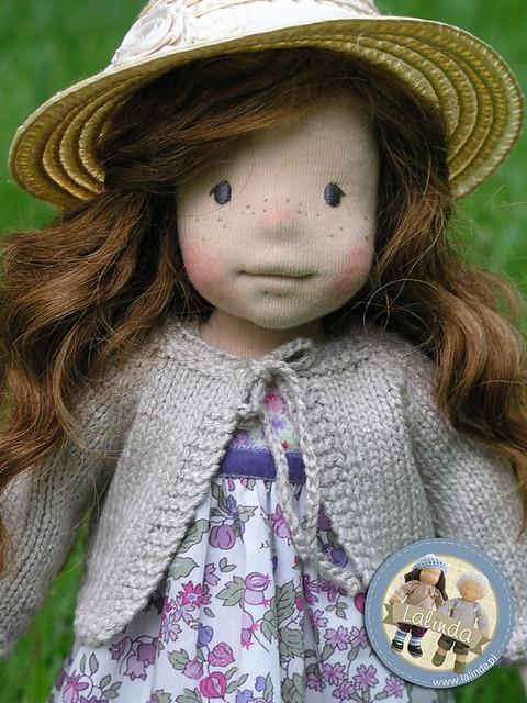 Anne - natural fiber art doll
