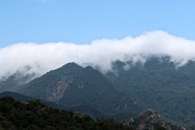 marine layer stops at the mountains
