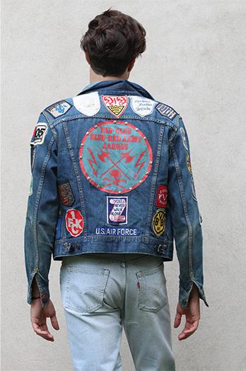 angelo giubbotto jeans vintage levi's