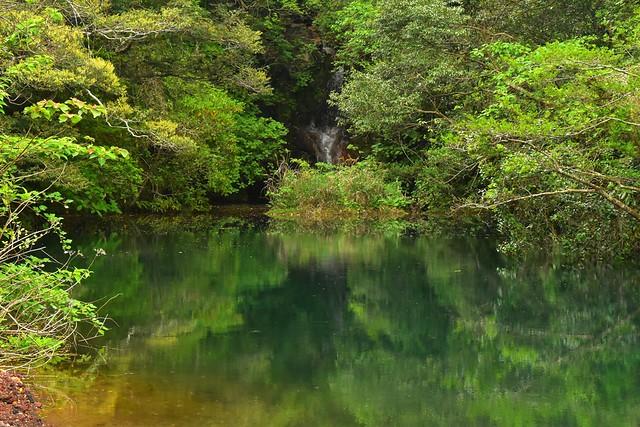 八丈島・三原山の硫黄沼