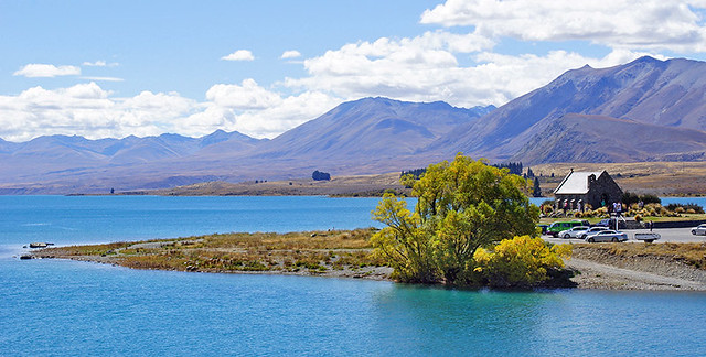 Church of the Good Shepherd; Lake Tekapo, Neuseeland