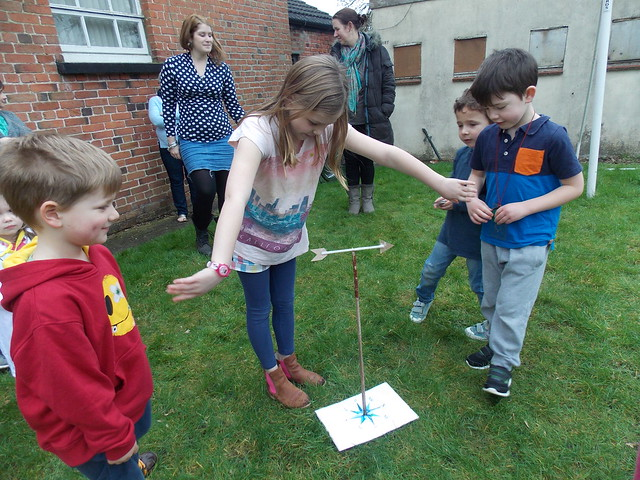 Measuring wind direction activity from chapter 3 of Messy Church Does Science