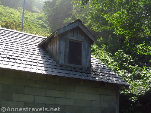 Note the gables - you can see the shingles through the windows. They're just for show! WWII era Klamath River Radar Station in Redwood National Park, California