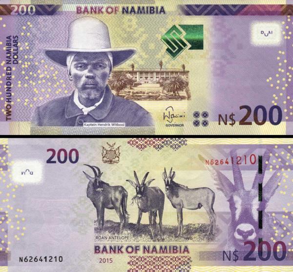 100 Dolárov Namíbia 2012 (2015), P15b