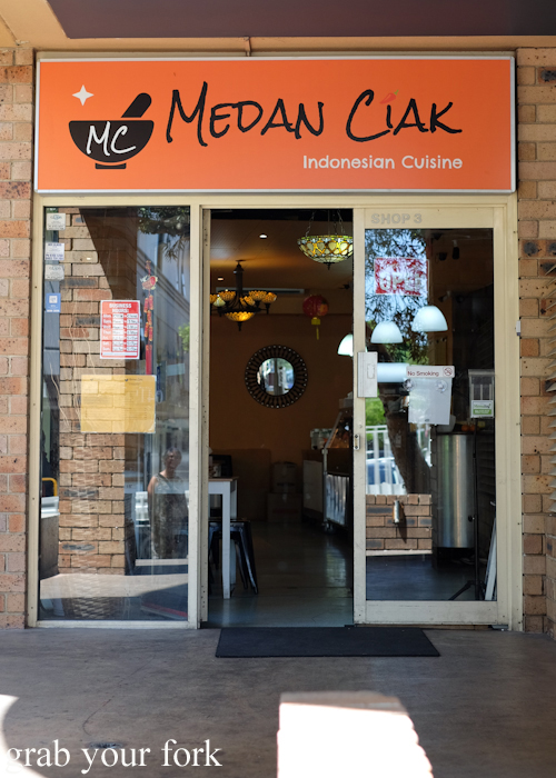 Entrance to Medan Ciak Indonesian restaurant in Surry Hills