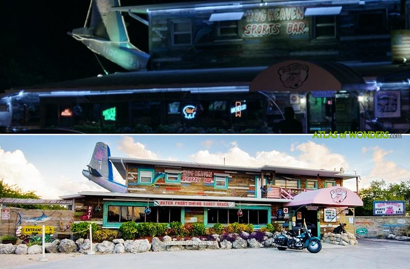 The crashed plane bar