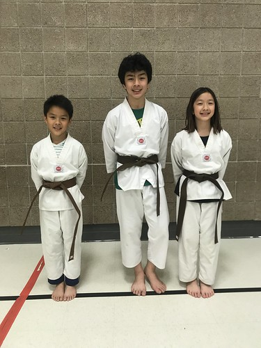 Perseverance pays off! Mr. Evan Duong, Mr. Tom Duong, and Ms. Katie Duong completed their remaining pattern and a set to complete their brown belt requirements. Hard work and effort shows. Great Job!! #nguyenschooltkd