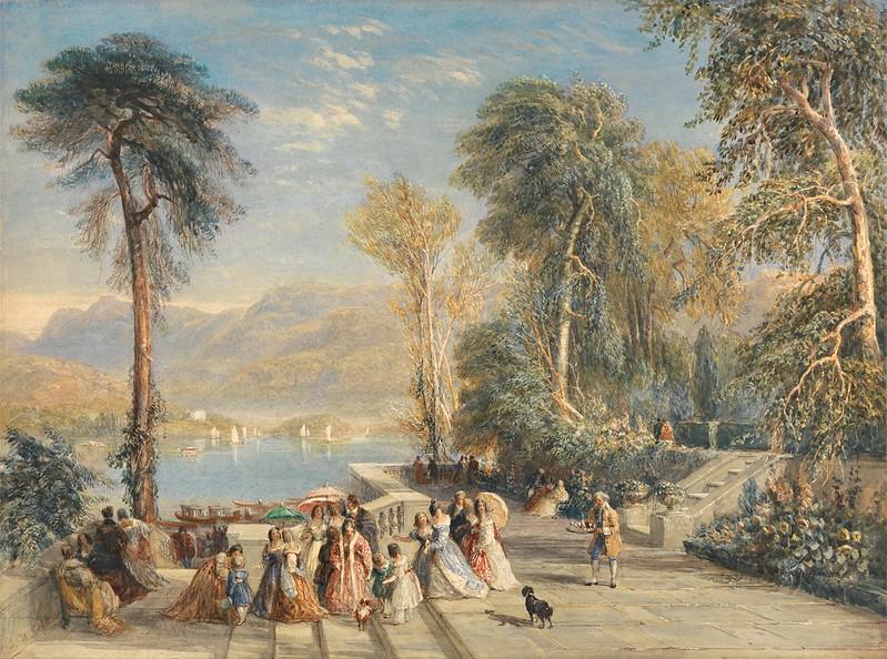 David Cox - Windermere During the Regatta (1832)