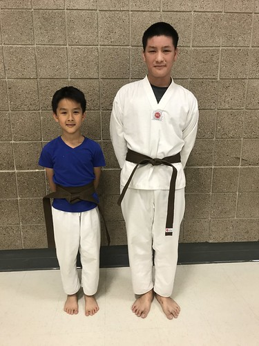 New Brown Belts! The Duong Bros. Mr. Andy and Mr. Neil completed their pattern and a set each at their test this evening. Way to go boys!