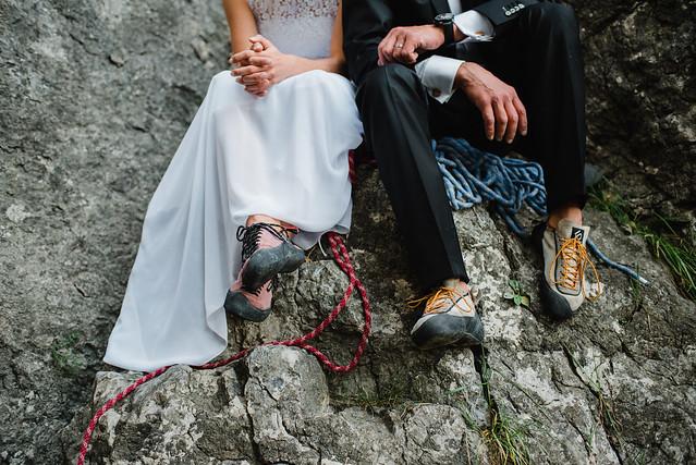 Wedding climbing