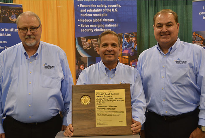 Chris Fresquez was honored as the National Small Business Program Manager of the Year.