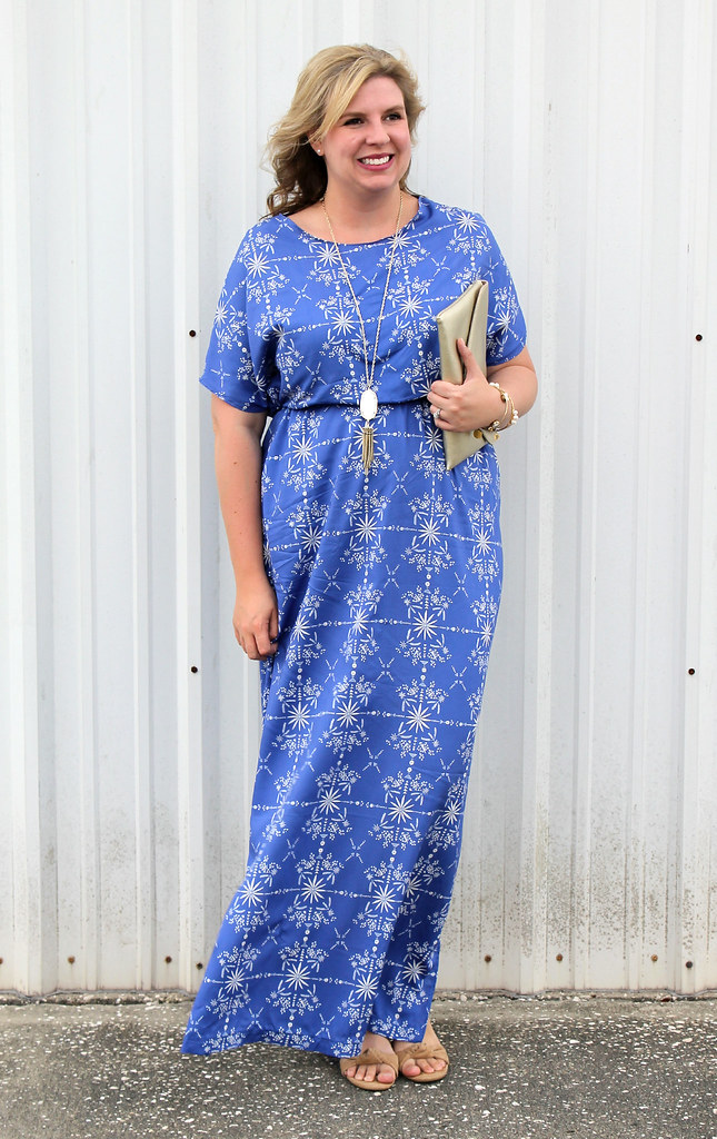 blue maxi dress DIY 4