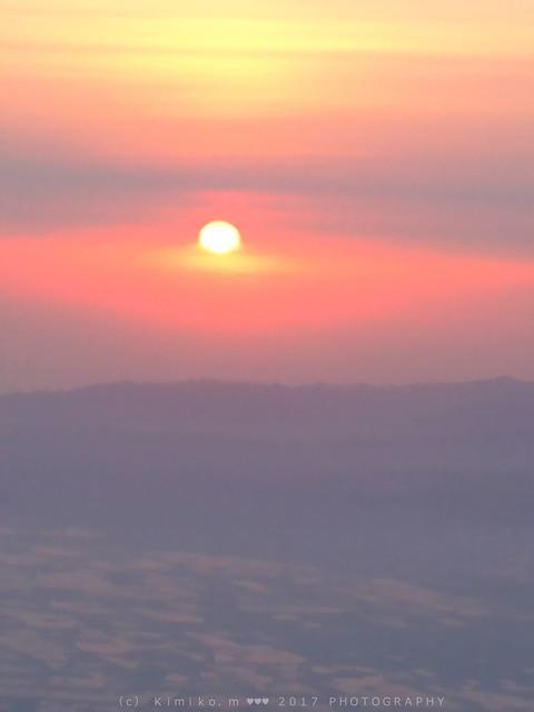 5月20日の夕陽