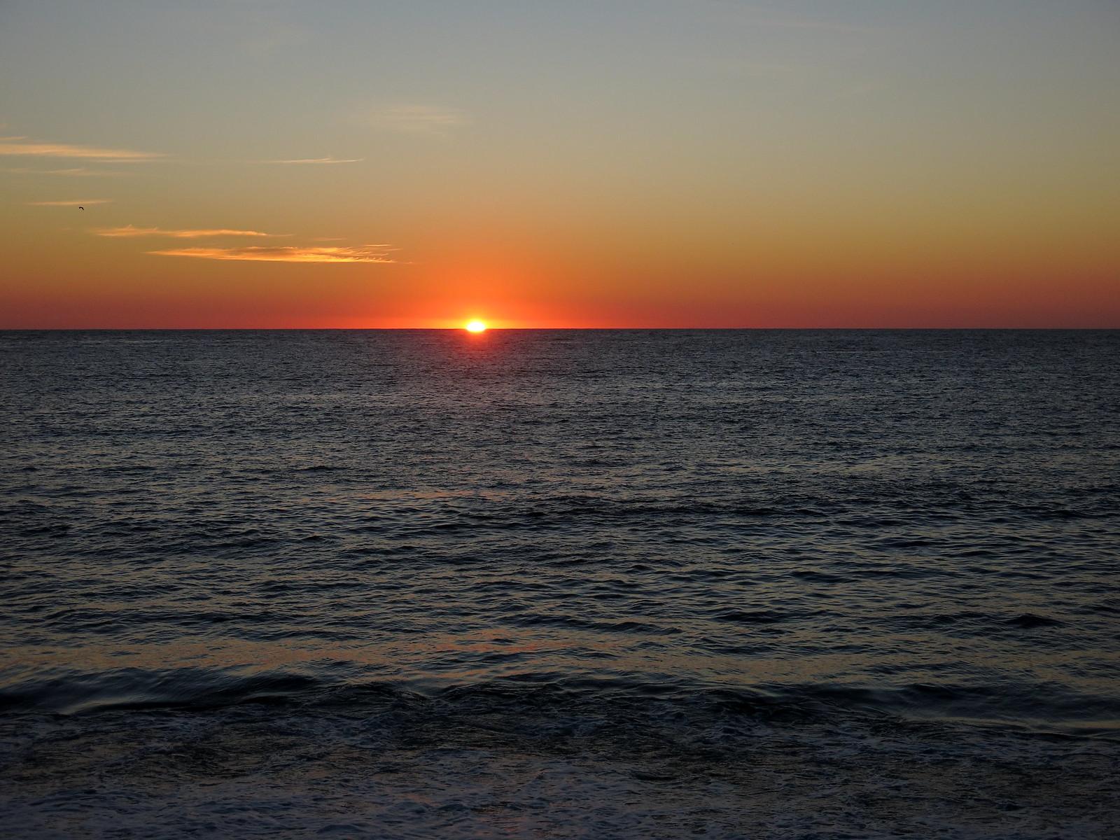 Puesta de sol en Punta de Tralca