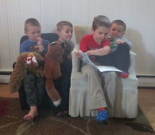 reading to some friends