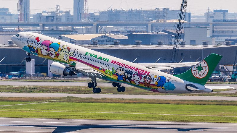 "B-16332 夢想機 ""Joyful Deream"" Special livery ""Hello Kitty""  EVA Air Airbus A330-203"