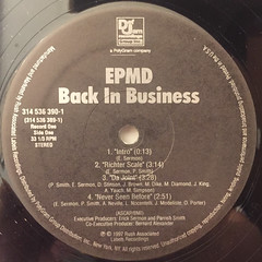EPMD:BACK IN BUSINESS(LABEL SIDE-A)