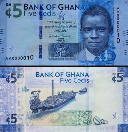5 Cedis Ghana 4.3.2017, P42
