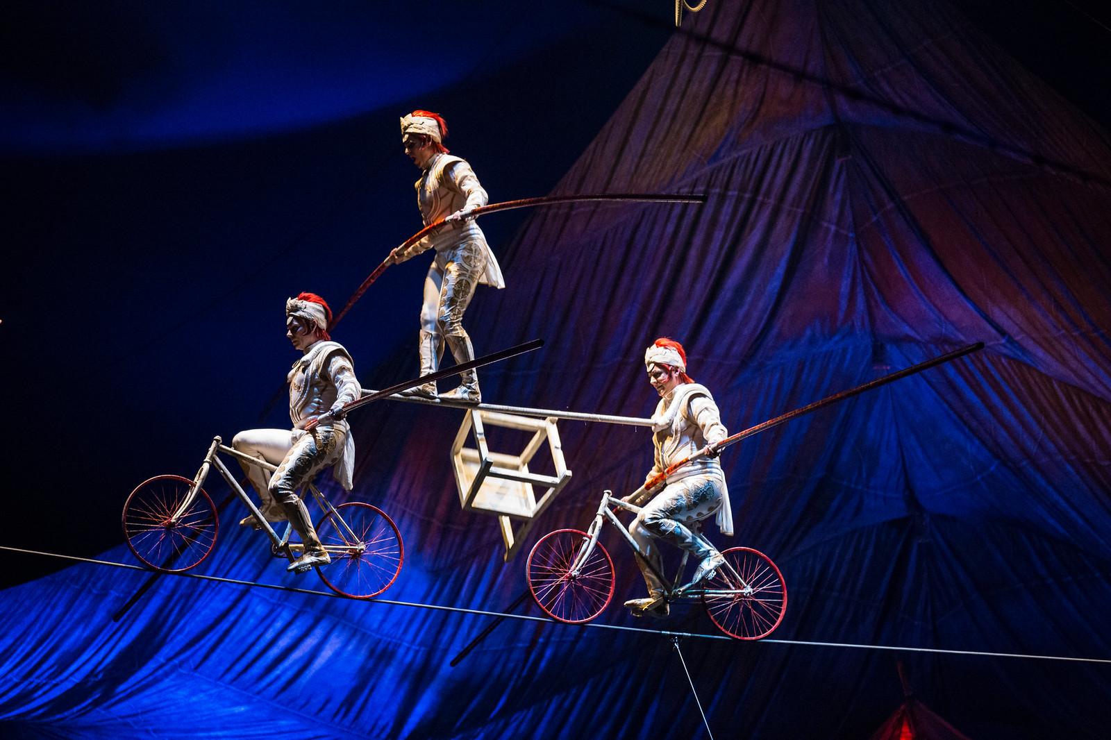 HighWire_Bicycle | Photos: Matt Beard Costumes: Marie-Chantale Vaillancourt ©2012 Cirque du Soleil