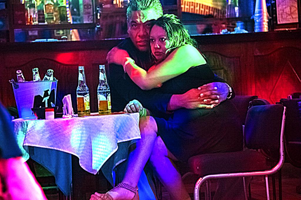 Couple in nightclub off Garibaldi Square--Mexico City