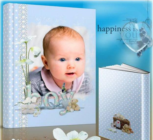 Photobook for a newborn boy – here I am, born