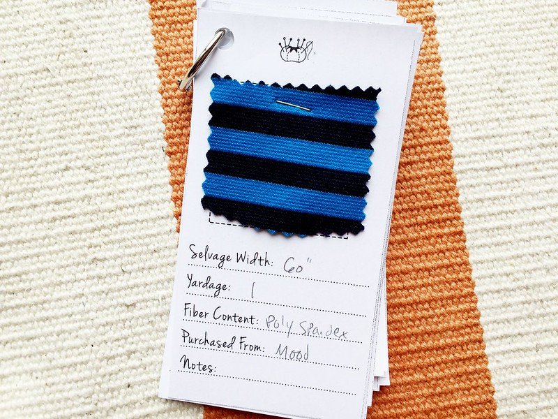 Fabric swatch book