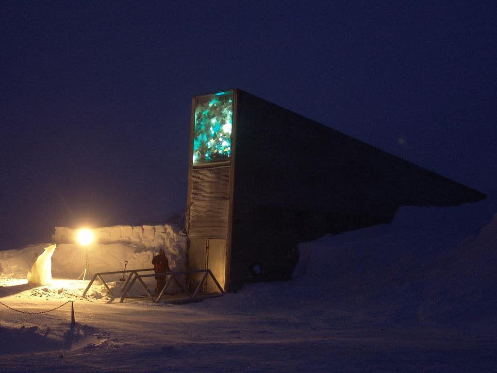 斯瓦爾巴全球種子庫(Global Seed Vault)。攝影:Mari Tefre;圖片來源:Svalbard Globale frøhvelv(CC BY-ND 2.0)