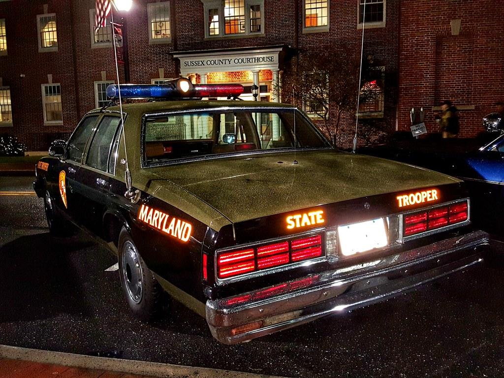 vintage Maryland State police car in Georgetown, Delaware | Flickr