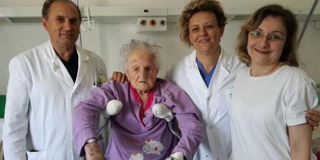 centenaria operata a Sapri