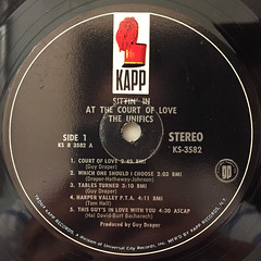 THE UNIFICS:SITTIN' IN AT THE COURT OF LOVE(LABEL SIDE-A)