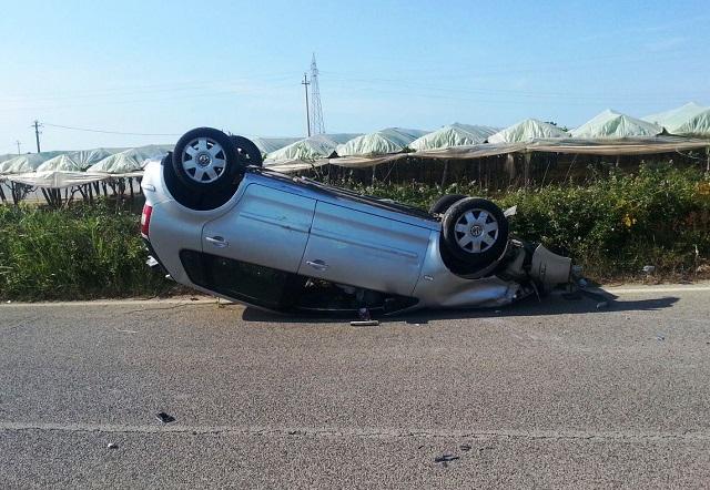 Noicattaro. Incidente strada per Triggiano intero1