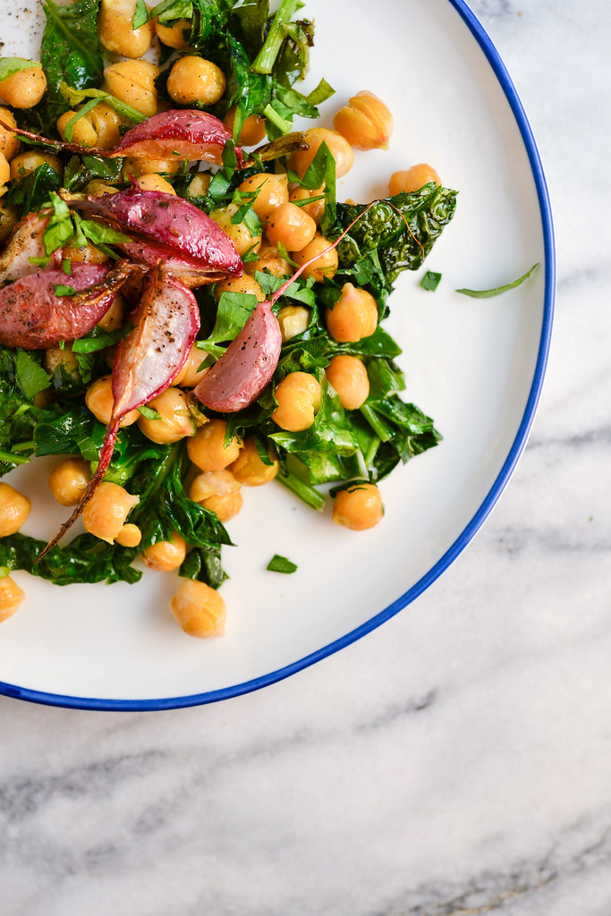 Chickpea, Spinach, and Roasted Radishes | Things I Made Today