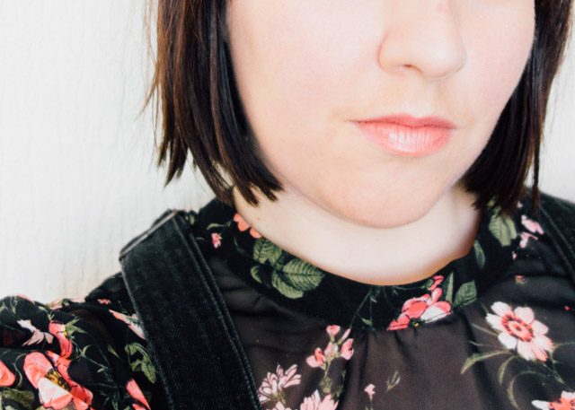 floral top and dungaree dress - what i wore