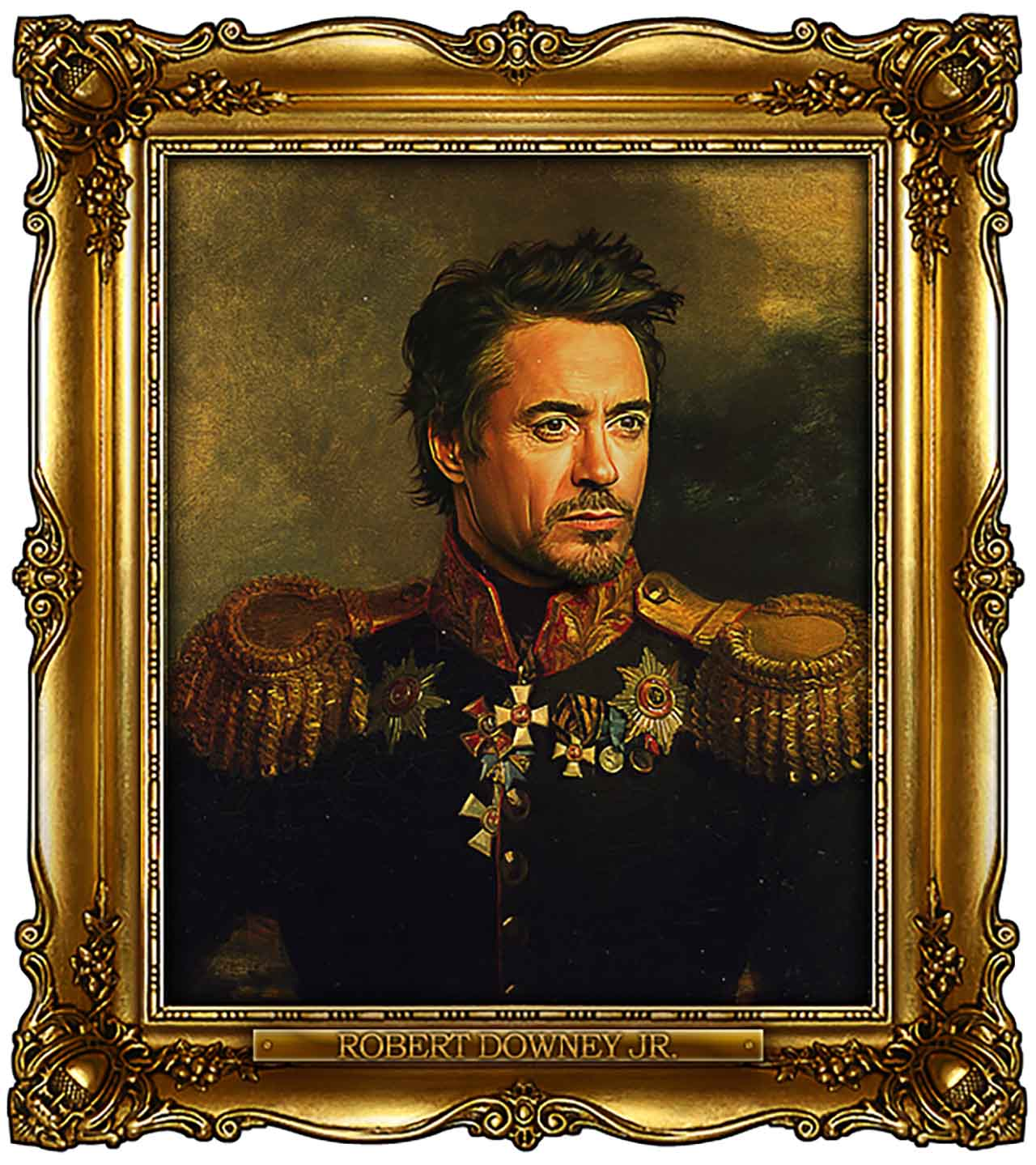 Artist Turns Famous Actors Into Russian Generals - Robert Downey Jr.