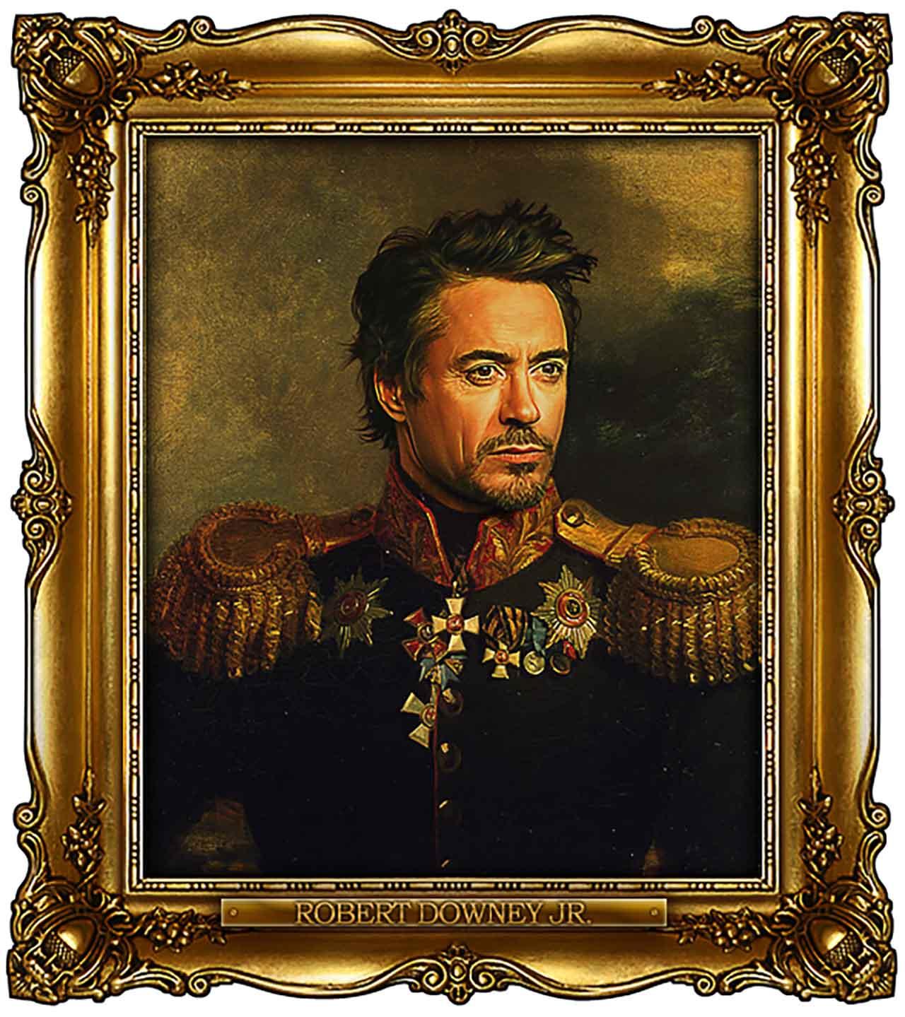 Artist Turns Famous Actors Into Russian Generals - Robert Downey Jr.