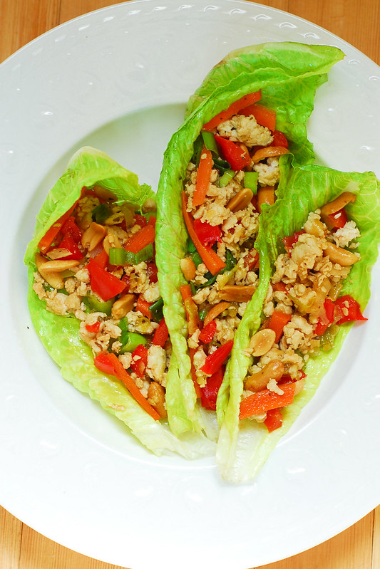 Low Sodium Asian Style Lettuce Wraps with Chicken
