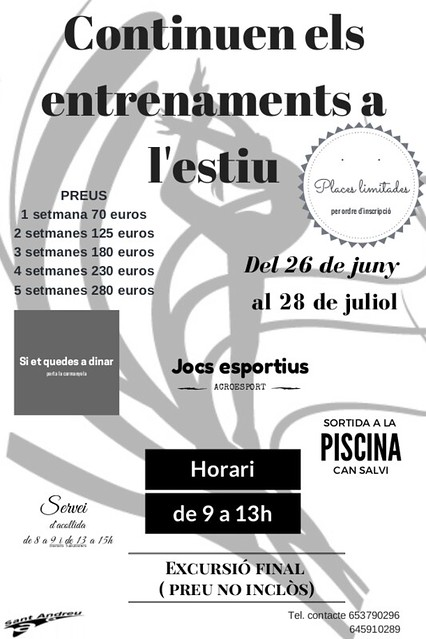 Temporada 2016-16 cartell Casal Estiu