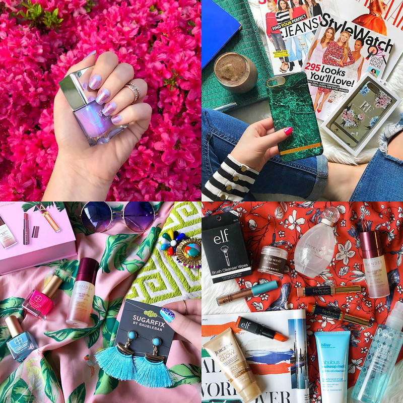 May 2017 Round Up Spring Summer Beauty Flat Lays