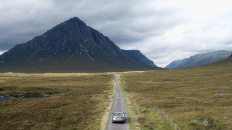 Highlands scenery and road