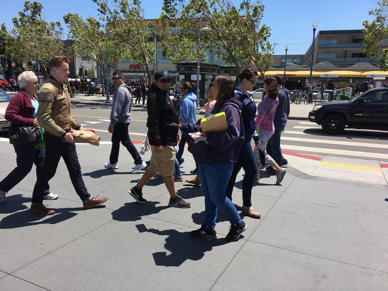 San Francisco, Fisherman's Wharf Leafleting Event – May 27, 2017