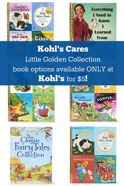 Kohl's Cares Little Golden Collection Book Options available ONLY at Kohl's for $5!