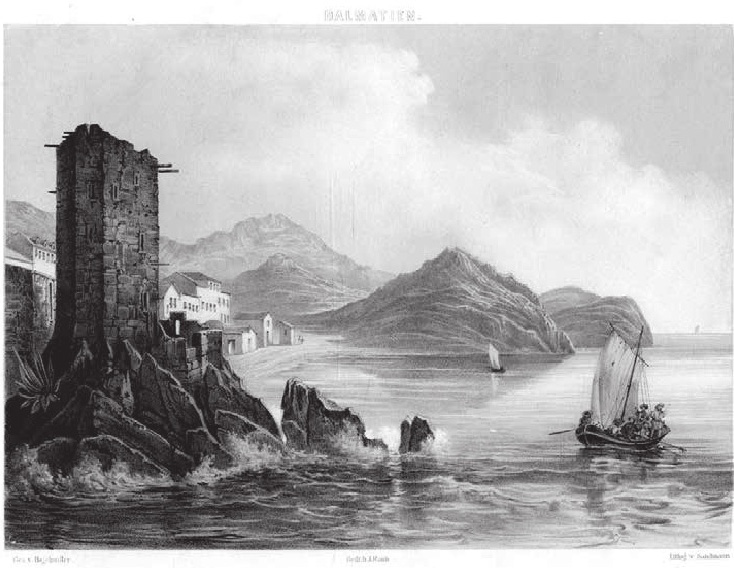 Графика Castel Lastua, 1849